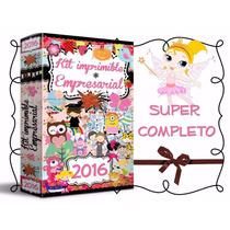 Kit Imprimible Profesional Gigante Invitaciones Cajas 2016