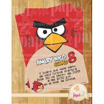 Invitacion Imprimible Angry Birds