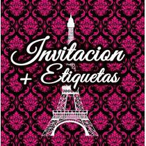 Invitaciones Paris Xv Años Cumpleaños