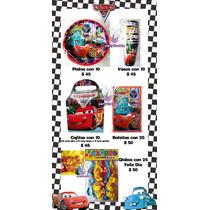 Todo Para Tu Fiesta De Cars. Platos Vasos Invitaciones Y Más