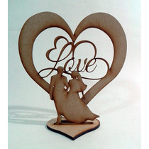 Centro De Mesa 3d Letras Love Boda De Mdf