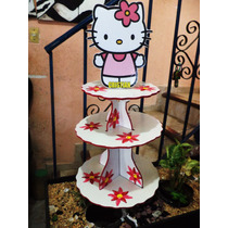 Base Porta Cupcakes Hello Kitty Porta Panquecitos Infantil
