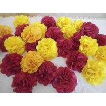 Paquete De 10 Flores De Tela Para Fiesta Hawaiana