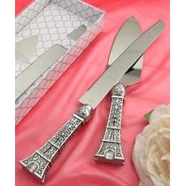 Set Pala Y Cuchillo Paris Torre Eiffel