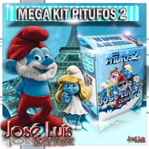 Pitufos 2 Invitaciones Carteles Kit Imprimible Jose Luis