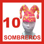 10 Sombreros Fiesta Boda Dj Xv Peluca Batucada Bufón Gorros
