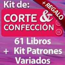 Kit Patrones Corte Y Confección, Costura 61 Libros + Regalos