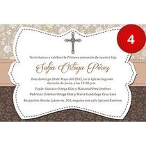 Invitaciones Imprimibles De Bautizo Comunion Confirmacion
