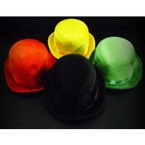 3 Sombreros Bombín Terciopelo Varios Colores