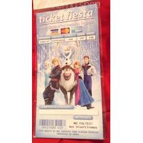 Aa Frozen 100 Invitaciones Tipo Ticket Promocion