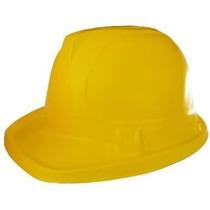 10 Cascos Constructor Amarillo Infantil