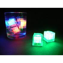 10 Hielos Luminosos Luz Led Fiestas Neon Eventos Sumergible
