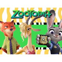 Kit Imprimible Zootopia Diseña Tarjeta Invitacion Cumple 2x1