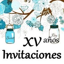 Invitaciones Para Xv Años Bodas Bautizo