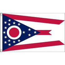 Bandera De Ohio - Estados Unidos De América Usa 5ftx 3ft Co