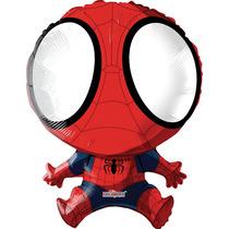 Globo Spiderman 6 Pzas Medida 14 Pulgadas Centro De Mesa