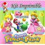 Kit Imprimible Princesa Peach Invitaciones Souvenirs Mx