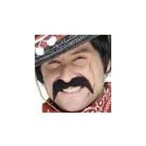 Traje Mexicano - Bandit Negro Tash Bigote Auto