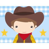 Kit Imprimible Cowboy Vaquero Candy Bar Tarjetas Y Mas #1