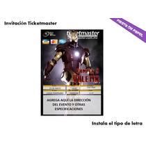 Ki-026 Kit Imprimible Y Editable Iron Man 3