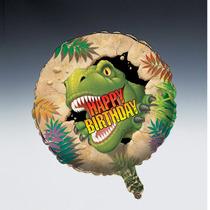 Feliz Cumpleaños Globo Foil Dino Targeta