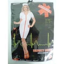 Traje De Enfermera - Medio Con El Sombrero Postal Arriba Del