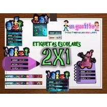 Kit Etiquetas Escolares Intensamente Imprimible 2x1