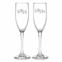 Copas Set 2 Boda Champagne Recien Casados Matrimonio Mr Mrs