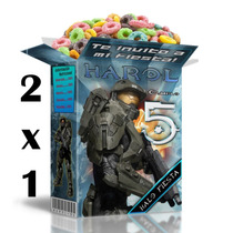 Kit Imprimible Halo 4 Textos 100% Editables En Power Point