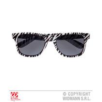 Fiesta Gafas - Zebra Wayfarer Animal Print Fun Sun Fancy