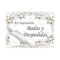 Kit Imprimible Invitaciones Para Bodas,tarjetas+envió Gratis