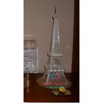 Torre Eiffel Acrilico Centro De Mesa Despedida Soltera Boda