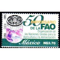 Timbre Postal 50 Aniversario De La Fao Mexico 1995