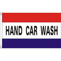 Bandera - Hand Car Wash Retail Sesión 5ftx 3ft Con El Metal