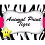 Kit Imprimible Animal Print Tigre, Invitaciones Y Cajitas