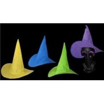 10 Sombreros Bruja Lisa Party Varios Colores