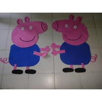 Figuras En Fomi Para Fiestas Infantiles - George - Peppa Pig
