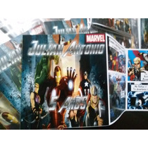Invitaciones Comic Avengers Tipo Historieta Nuevas!
