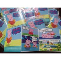 12 Invitaciones Comic Peppa Pig Tipo Historieta Nuevas!