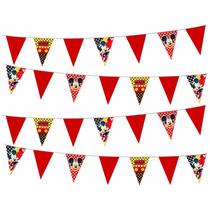 Banderines Mickey Mouse Para Fiesta Infantil ¡en Oferta!