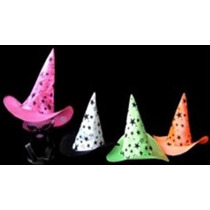 3 Sombreros Bruja Estrella Neon Varios Colores
