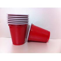 Mini Vaso Rojo Desechable Para Shot Tequilero