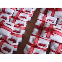 Paquete 50 Kits Toallita 20x20 Cms. Y Jabóncito Para Eventos