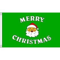 Decoración De Navidad - Feliz Verde 3ftx 2ft De La Bandera