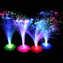 Centros De Mesa Luz Led Fibra Optica Arreglos Bodas Fiestas