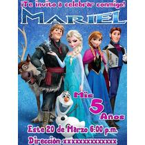Diseño De Invitaciones Frozen En Menos De 24 Horas