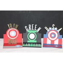 Inik Invitacion Superheroes Capitan America Ironman Green
