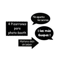 Pizarrón Boda Photobooth Letrero Vintage Fiesta Fotos Frases