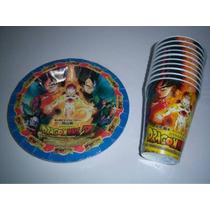 Platos Vasos Caja Bolo Fiesta Dragon Ball Coku