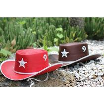 Fiesta Vaquera Sombrero Cowboy Sheriff Infantil 50 Piezas
